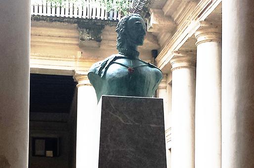 Il busto di Pigafetta realizzato da Margraf parte per il Cile