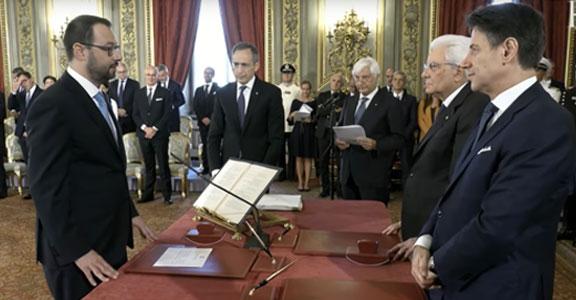 Il Ministro dello Sviluppo Economico Stefano Patuanelli all'Assemblea di Confindustria Vicenza