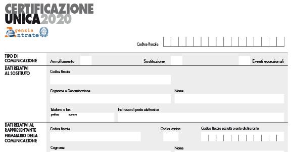 Certificazione Unica 2020: caratteristiche del modello e compilazione dei dati fiscali